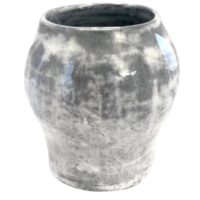 Blue & Gray Clay Vase - Image 1 of 4
