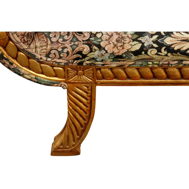 Wood Hollywood Regency Chaise Longue For Sale - Image 7 of 10