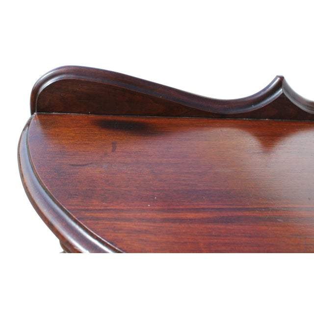 Demi-Lune Mahogany Console Table For Sale - Image 9 of 12
