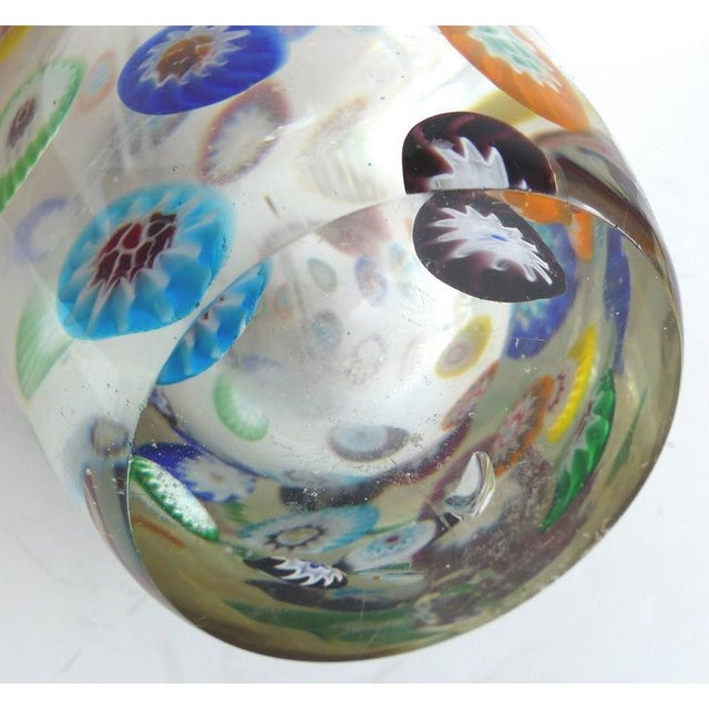Glass Mid-Century Murano Gambaro & Poggi Millefiori Bottle For Sale - Image 7 of 10