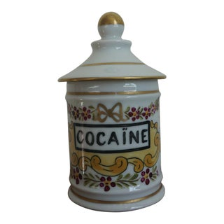 French 'Cocaine' Apothecary Jar For Sale