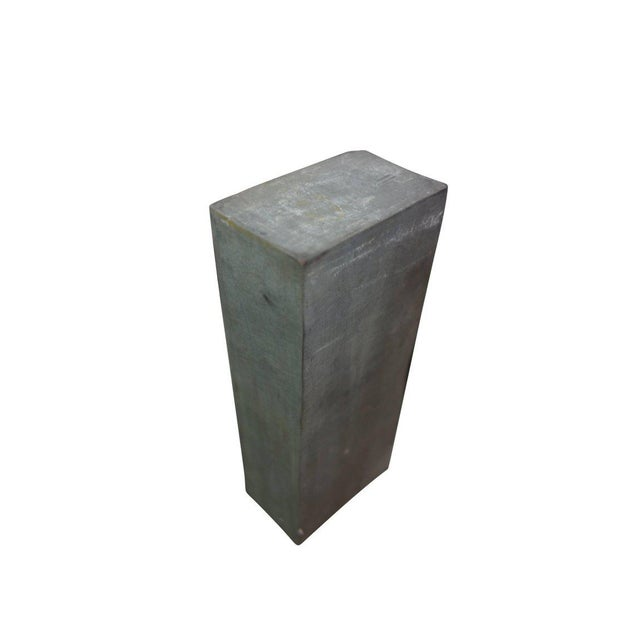 Slate Gray 1920s Zinc Geometric Forms - Set of Four For Sale - Image 8 of 10