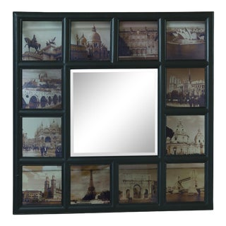 Mirror W. Reverse Painted Worldwide Historic Building Scenes For Sale