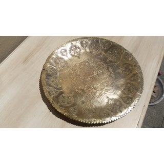 Antique Moroccan Brass Tray Preview