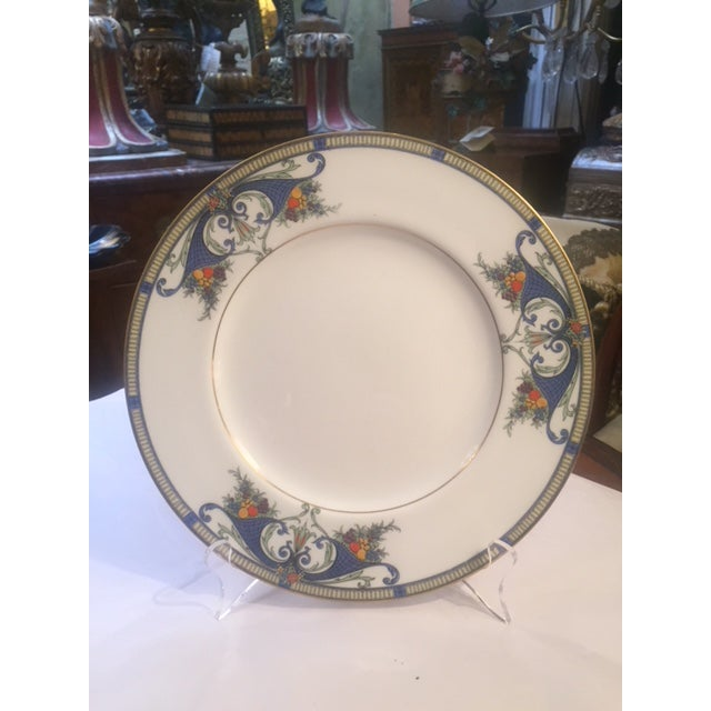 Late 19th Century Royal Worcester Porcelain Dinner Plates - Set of 12 For Sale - Image 5 of 12