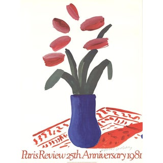 David Hockney-Paris Review 25th Anniversary-1980 Offset Lithograph-SIGNED For Sale