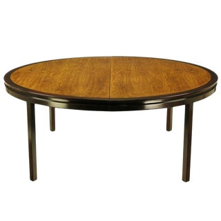 Rare Edward Wormley Custom Mahogany and Natural Rosewood Oval Dining Table For Sale