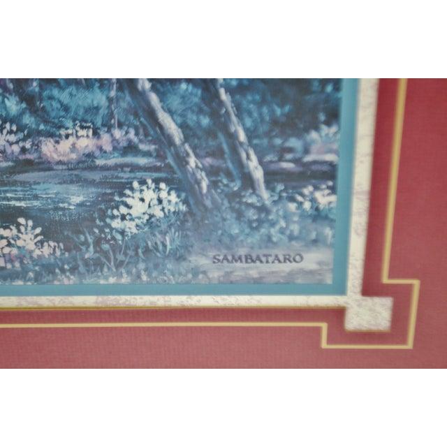 Paper Vintage Framed Sambataro Church Steeple Print For Sale - Image 7 of 12