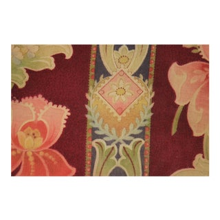 French Art Nouveau Printed Linen And Cotton Fabric For Sale