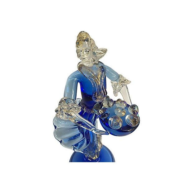 Pair of stunning Murano figurines designed by Ercole Barovier with shimmering 24K gold inclusions. Condition: Excellent,...