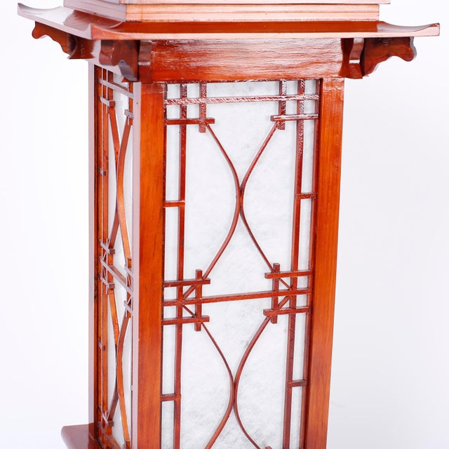 Large Pagoda Table Lamps - A Pair For Sale In West Palm - Image 6 of 9