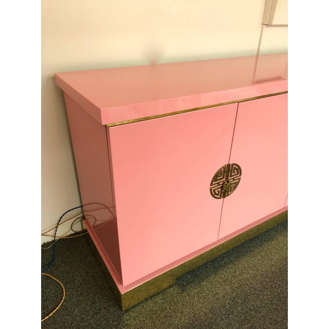 1970s Sideboard Lacquered and Brass Japanese Style by Maison Jansen, France, 1970s For Sale - Image 5 of 9
