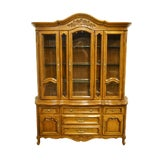 Image of Unique Furniture Country French Provincial China Cabinet For Sale