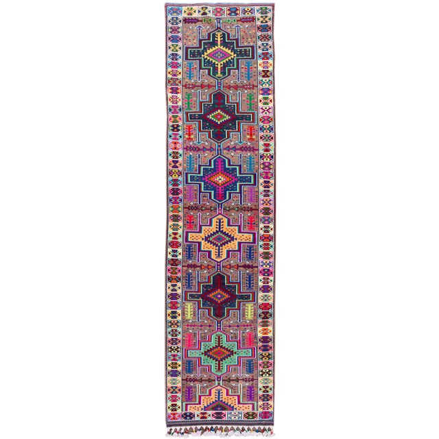 Mid-20th Century Colorful Vintage Turkish Wool Runner Rug 3 X 13 For Sale - Image 12 of 12