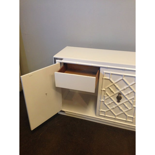 Thomasville Faux Bamboo Credenza - Image 7 of 8