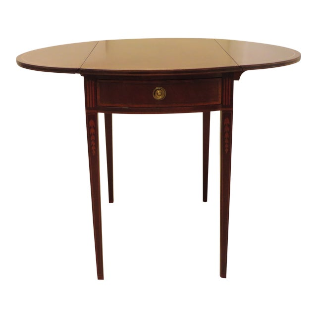 Early 20th Century Antique Baker Furniture Drop Leaf Pembroke Table - Early 20th Century Antique Baker Furniture Drop Leaf Pembroke Table