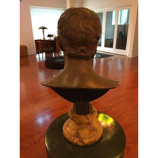 1906 Cesar Sab De Angelis Fils Naples Bronze Bust For Sale - Image 9 of 10
