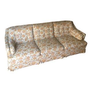 1970s Vintage Tufted Floral Sofa