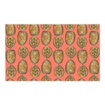 Turtle Shell Salmon Linen Cotton Fabric, 6 Yards