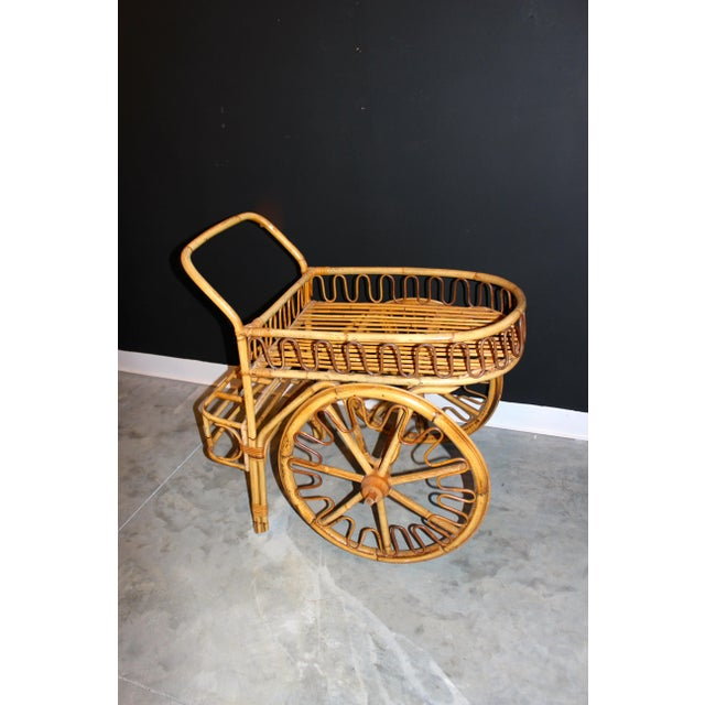 Rattan Bar Cart - Image 7 of 10