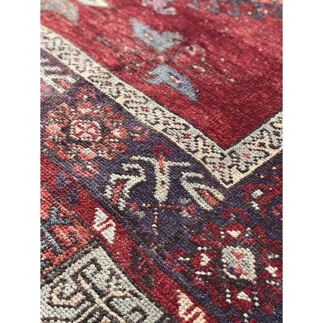 """Vintage Turkish Oushak Runner - 5' X 13'3"""" For Sale - Image 11 of 13"""