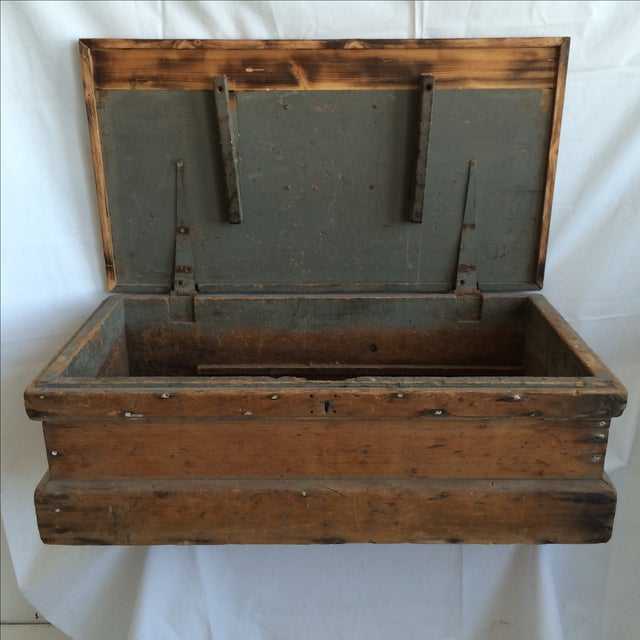 Rustic Pine Wood Sea Chest - Image 3 of 11