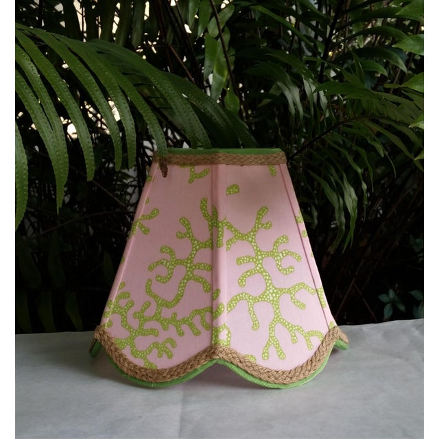 Lampshade Pink Green Tropical Lilly Pulitzer Fabric For Sale - Image 9 of 11