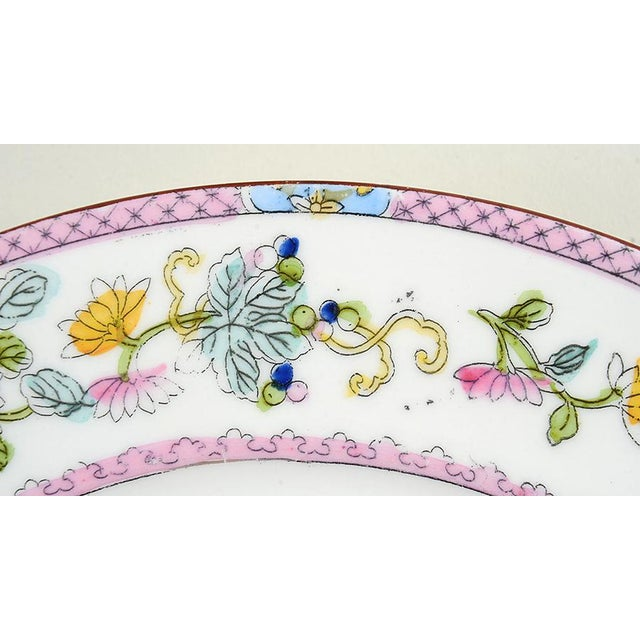 1920s Noritake Pink with Bird of Paradise Dinner Plates - Set of 10 For Sale - Image 5 of 9