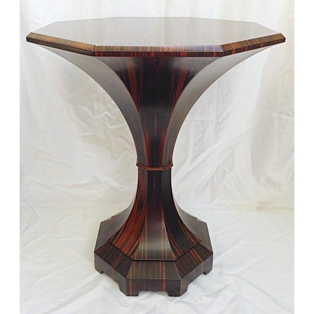 Lucien Rollin Lucien Rollin Macassar Ebony Tulip Table For Sale - Image 4 of 4