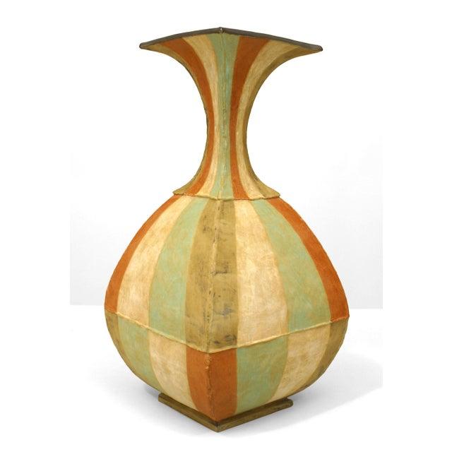 American American Post-War DI Pasquale Roman Stripe Vase For Sale - Image 3 of 4