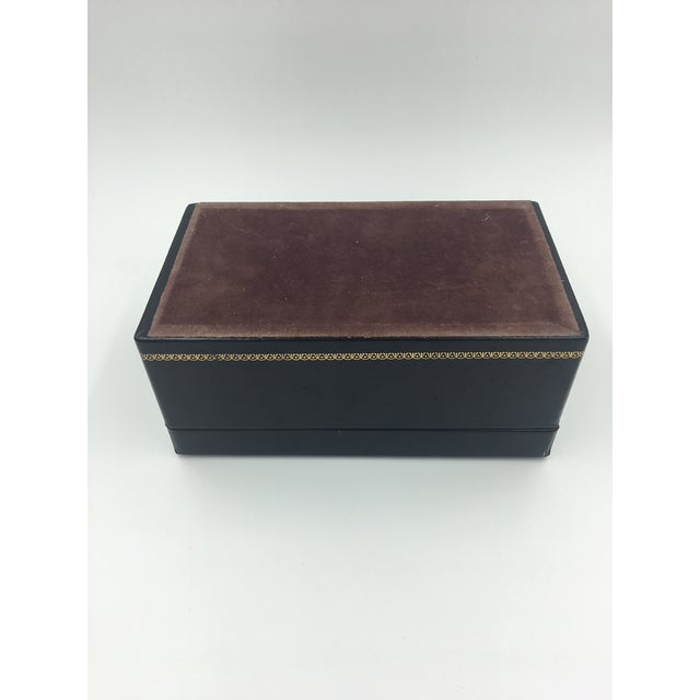 Leather Black Leather Embossed Humidor For Sale - Image 7 of 8