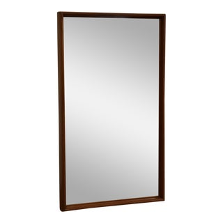 Danish Style Modern Teak Mirror For Sale