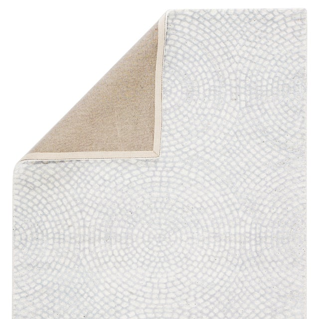 Pollack by Jaipur Living Impresario Handmade Medallion White/ Silver Area Rug - 5'x8' For Sale - Image 4 of 5