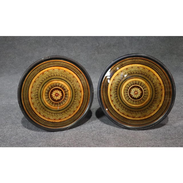 Regency Style Carved Mahogany Glass Top End Tables - a Pair For Sale - Image 4 of 7
