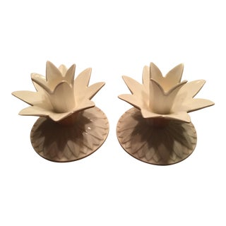 Fitz & Floyd Pineapple Candle Holders For Sale