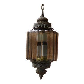 Vintage Moroccan Style Boho Chic Lantern Light For Sale