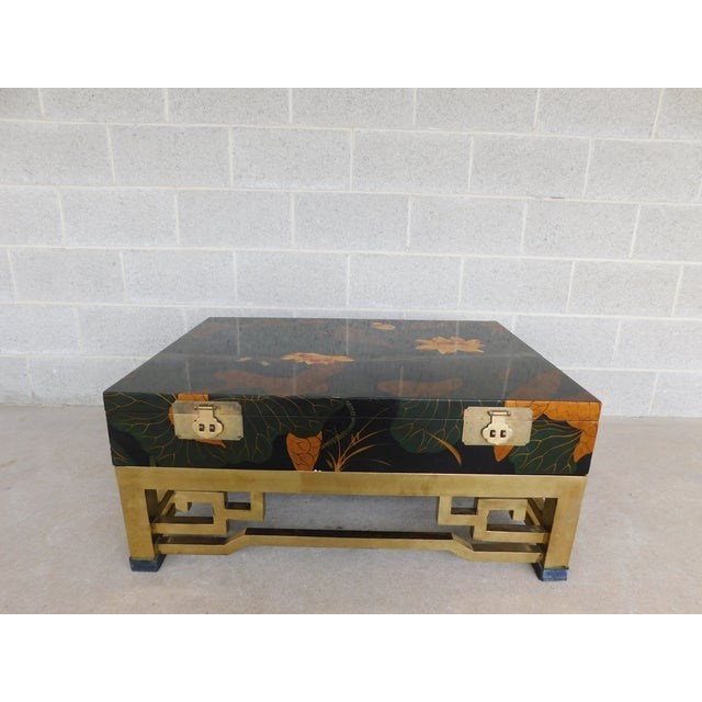 Maitland Smith Chinoisere Decorated Lacquered Cocktail Coffee Table For Sale - Image 13 of 13