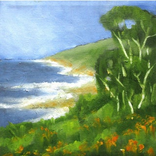 Monterey Bay North Coast Plein Air Oil Painting For Sale