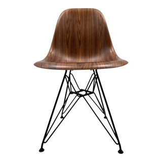 Eames Molded Wood Wire-Base Side Chair Design Within Reach For Sale