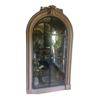 Art Nouveau Style China/Display Cabinet For Sale