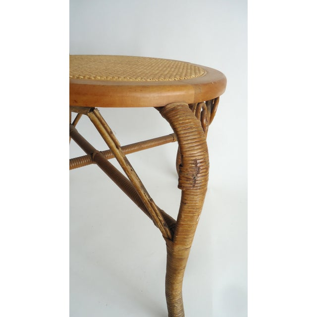 Wicker Late 19th Century Vintage Heywood Wakefield Victorian Wicker Photographer's Chair For Sale - Image 7 of 12