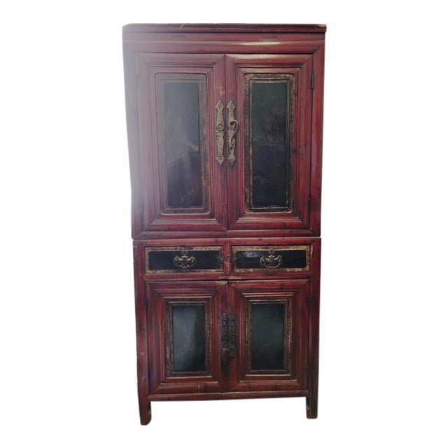 Antique Asian Two-Piece Cabinet - Image 1 of 4