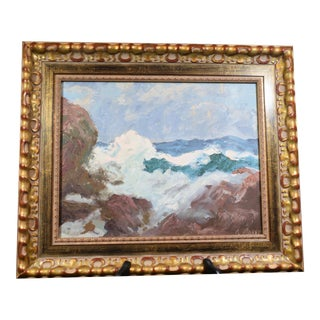 19th C. American Seascape Painting For Sale