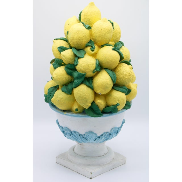 Tall Vintage French Lemon Topiary Basket / Centerpiece For Sale - Image 11 of 11