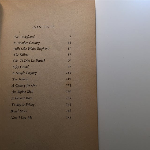 Ernest Hemingway Men Without Women Book For Sale In New York - Image 6 of 7