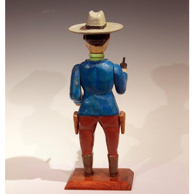 Old Folk Art Figurine of Gunslinger Western Cowboy Gambler For Sale In New York - Image 6 of 11