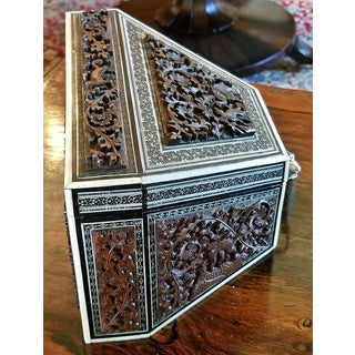 19c Anglo Indian Carved Padouk and Sadeli Stationary Box Preview