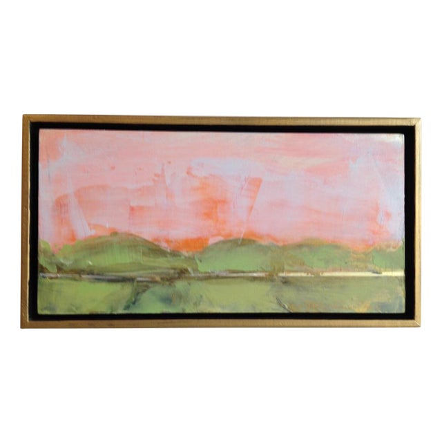 Coral Gestural Fields Painting - Image 1 of 5