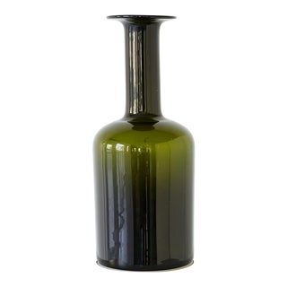 Glass Bottle Vase by Kastrup Holmegaard