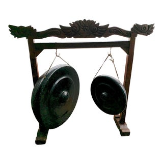 Boss Nipple Gongs With Craved Wood Stand For Sale